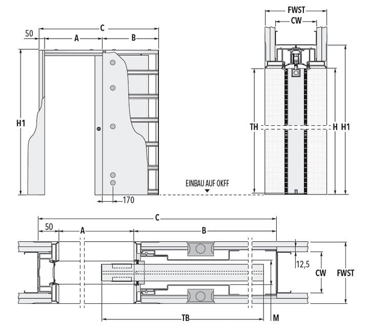 schiebet r systeme syntesis luce ef trockenbau ma zeichnung standard eclisse schiebet ren. Black Bedroom Furniture Sets. Home Design Ideas
