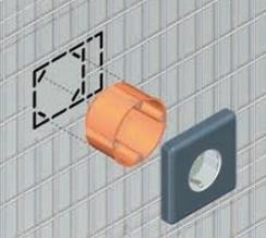 eclisse syntesis luce einbaukasten steckdosenmontage. Black Bedroom Furniture Sets. Home Design Ideas