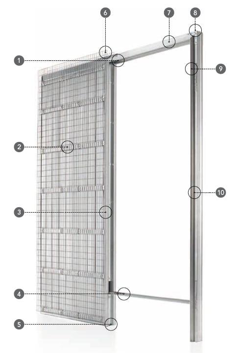 Schiebetür - Systeme Syntesis Line EF Massivwand Einbaukasten