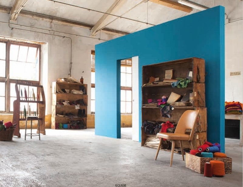 Eclisse Syntesis® Line Kategorie Referenzbild Blau Zargenlos Industrial Design