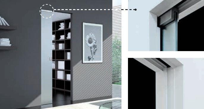 Eclisse VITRO Abdeckset für Glasschiebetüren der Eclisse Syntesis® Line - Details für Produktbeschreibung