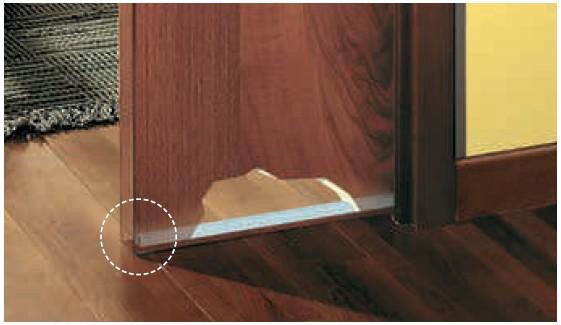 Eclisse Türführungsprofil für Holztürblätter